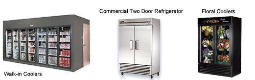 Walk-in Coolers, Commercial Refrigerators, AC Units, Air Handlers and True Floral Coolers