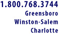 Contact Us in Greensboro, Winston-Salem, Charlotte